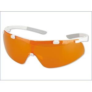 Beskyttelsesbrille Uvex iSpec Slim Fit Orange UV hvit/orange