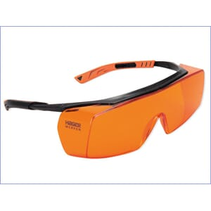 Beskyttelsesbrille Super Fit UV orange for brillebrukere