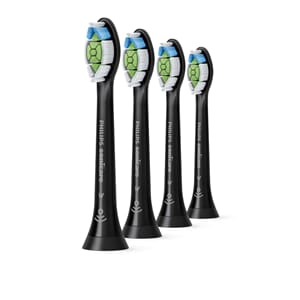 Sonicare W Optimal While børstehode Svart 4 stk